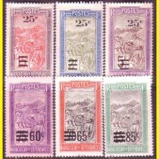 Selos: MADAGASCAR 1922 YVERT Nº 144 A 149 *. Lote 44211089