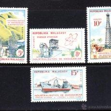 Sellos: MADAGASCAR 372/75** - AÑO 1962 - INDUSTRIALIZACIÓN DE MADAGASCAR - BARCOS. Lote 48971009