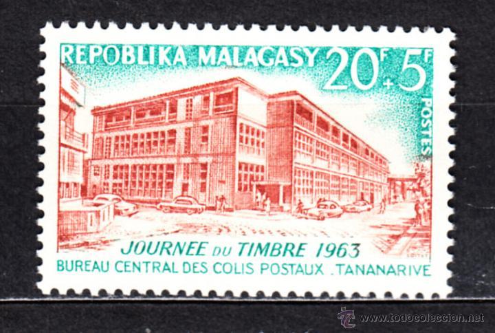 MADAGASCAR 379** - AÑO 1963 - DÍA DEL SELLO - OFICINA CENTRAL DE CORREOS EN ANTANANARIVO (Sellos - Extranjero - África - Madagascar)