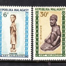 Sellos: MADAGASCAR 397/98** - AÑO 1964 - ARTE MALGACHE. Lote 49205533