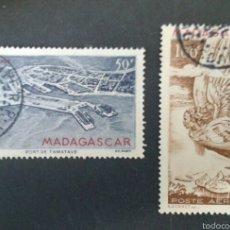 Sellos: SELLOS DE MADAGASCAR. YVERT A-63/4. SERIE COMPLETA USADA. . Lote 53492779