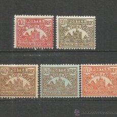Timbres: MADAGASCAR COLONIA FRANCESA TAXE IMPUESTOS YVERT NUM. 11/15 * NUEVOS CON FIJASELLOS. Lote 53960209