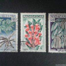 Sellos: SELLOS DE MADAGASCAR. FRUTOS. YVERT 332/4. SERIE COMPLETA USADA.. Lote 60223071