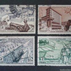 Sellos: SELLOS DE MADAGASCAR. AGRICULTURA. YVERT 327/30. SERIE COMPLETA USADA.. Lote 60223211