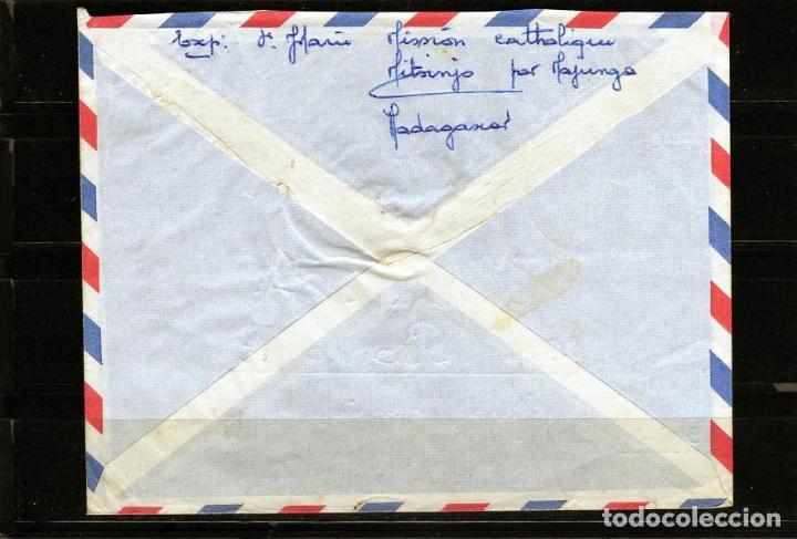 Sellos: CARTA DE MADAGASCAR A BONCOURT SUIZA AÑO 1965 - Foto 2 - 64711791