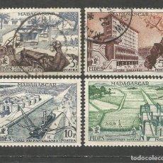 Timbres: MADAGASCAR COLONIA FRANCESA YVERT NUM. 327/330 SERIE COMPLETA USADA. Lote 65750326