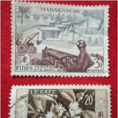 Sellos: LOTE 2 SELLOS DE MADAGASCAR N249. Lote 91654697