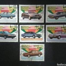 Sellos: MADAGASCAR. YVERT 1137/43. SERIE COMPLETA USADA. COCHES. Lote 103821928