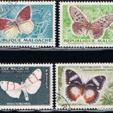Sellos: MADAGASCAR - LOTE DE 4 SELLOS - MARIPOSAS (USADO) LOTE 9. Lote 106619463