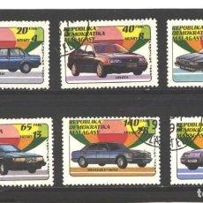 Sellos: MADAGASCAR 1993 - YVERTNRO. 1137-42 -VEHICULOS - MATASELLO DE FAVOR. Lote 113716823