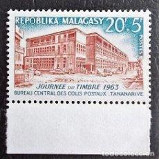 Sellos: MADAGASCAR. 379 DÍA DEL SELLO. OFICINA CENTRAL DE CORREOS. 1963. SELLOS NUEVOS Y NUMERACIÓN YVERT.. Lote 119441880
