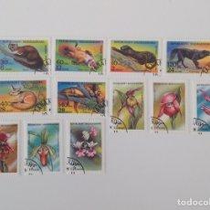 Sellos: LOTE DE 12 SELLOS CTO MADAGASCAR- FLORA Y FAUNA 1993/94. Lote 130955429