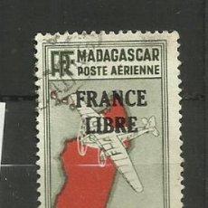 Sellos: FRANCIA COLONIAS- USADO 1942 HABILITADO. Lote 135347954