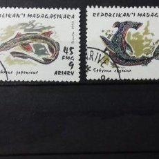 Sellos: SELLOS DE TIBURONES DE MADAGASCAR. Lote 137577582