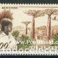Sellos: SELLO USADO DE MADAGASCAR, CORREO AEREO YT 73. Lote 138968218