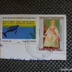 Sellos: PAREJA DE SELLOS DE MADAGASCAR CON SU MATASELLOS IMPRESO. Lote 153252890