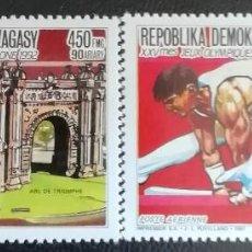 Sellos: 1987. DEPORTES. MADAGASCAR. A 196 / A 197. PRE-JUEGOS OLÍMPICOS BARCELONA. SERIE COMPLETA. NUEVO.. Lote 154672874