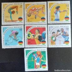 Sellos: 1992. DEPORTES. MADAGASCAR. 1061/1067. JUEGOS OLÍMPICOS BARCELONA. SERIE COMPLETA. NUEVO.. Lote 154675390