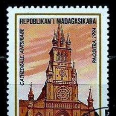 Sellos: MADAGASCAR SCOTT: 1210-(1994) (CATEDRAL DE ANTSIRABE, MADAGASCAR ) USADO. Lote 155995846