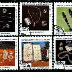 Sellos: MADAGASCAR SCOTT: 1247A/47F-(1994) (ARTESANIA NATIVA) USADO . Lote 155996330