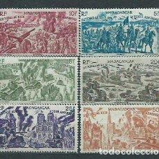 Sellos: MADAGASCAR - AEREO YVERT 66/71 * MH. Lote 156195805
