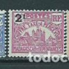Sellos: MADAGASCAR - TASA YVERT 17/9 * MH. Lote 156196557