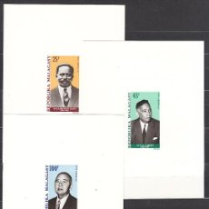 Sellos: PRUEBAS DE LUJO - MADAGASCAR AEREO YVERT 114/6 PERSONAJES. Lote 156196781