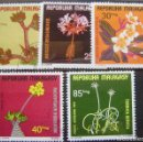 Sellos: MADAGASCAR - IVERT Nº 562/65 + A155 - FLORES. Lote 158764546