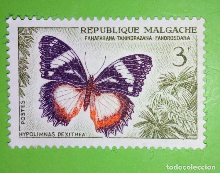 REPÚBLICA MALGACHE,MARIPOSA. NUEVO (Sellos - Extranjero - África - Madagascar)