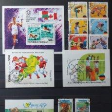 Sellos: HOJAS BLOQUE Y SELLOS DE MADAGASCAR, JUEGOS OLÍMPICOS DE ALBERTVILLE'92, MONTREAL '76, BARCELONA' 92. Lote 166769977