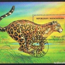 Sellos: [CF7665B] MADAGASCAR 1994, HB FAUNA (CTO). Lote 166859952