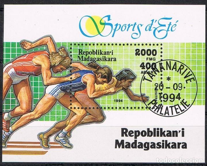 [CF7697B] MADAGASCAR 1994, HB DEPORTES (CTO) (Sellos - Extranjero - África - Madagascar)