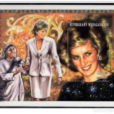 Sellos: MADAGASCAR 1998 - LADY DIANA MINIATURE SHEET MNH. Lote 198370538