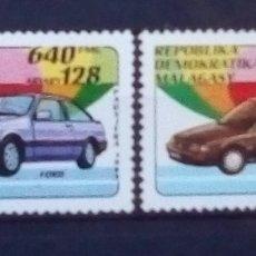 Sellos: MADAGASCAR COCHES ANTIGUOS SERIE DE SELLOS USADOS. Lote 172412358