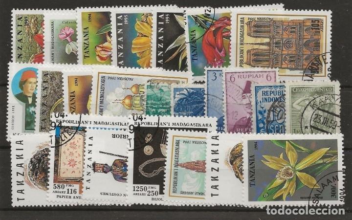 R8/ BUEN LOTE DEL MUNDO, PRINCIPALMENTE DE TANZANIA Y MADAGASCAR, USADOS (Sellos - Extranjero - África - Madagascar)