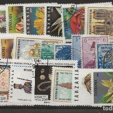 Sellos: R8/ BUEN LOTE DEL MUNDO, PRINCIPALMENTE DE TANZANIA Y MADAGASCAR, USADOS. Lote 177697039