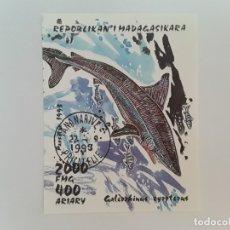 Sellos: MADAGASCAR H.B. USADA SIN DENTAR. Lote 178582847