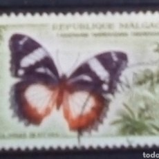Sellos: MADAGASCAR MARIPOSAS SELLO USADO. Lote 179534975