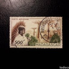 Sellos: MADAGASCAR FRANCÉS. YVERT A-73. SERIE COMPLETA USADA. MUJER, PAISAJE Y AVES. Lote 180215617