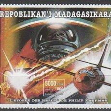 Sellos: MADAGASCAR IVERT 1392/4, ELEGIDOS PARA LA GLORIA, DE PHILIP KAUFMAN, NUEVO ***. Lote 182522376