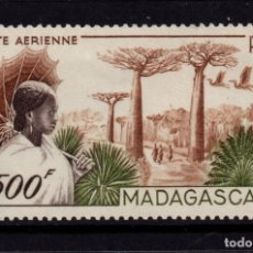 Sellos: MADAGASCAR AEREO 73** - AÑO 1952 - PAISAJES - RUTA DE MORONDAVA. Lote 182873015