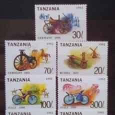 Sellos: TANZANIA MOTOCICLETAS SERIE COMPLETA DE SELLOS NUEVOS. Lote 183271072