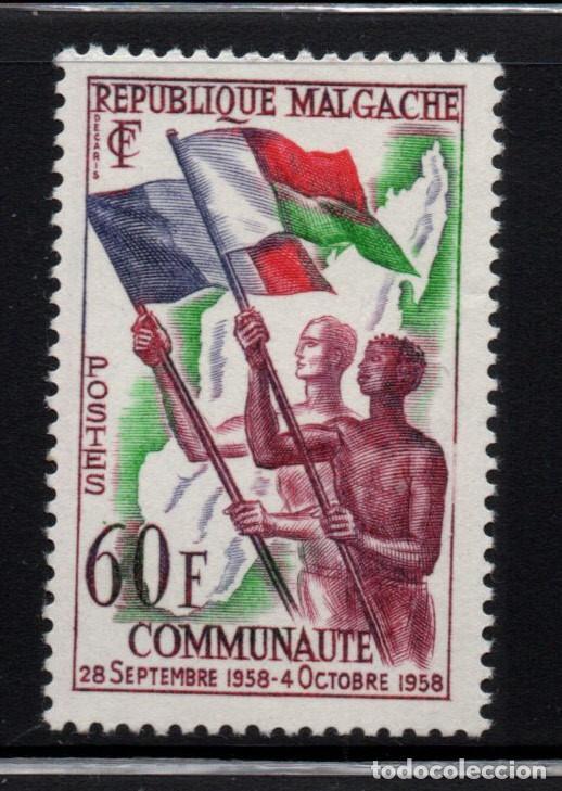 MADAGASCAR 340* - AÑO 1959 - COMUNIDAD FRANCESA (Sellos - Extranjero - África - Madagascar)