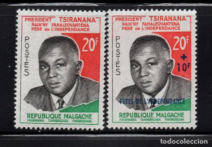MADAGASCAR 355/56** - AÑO 1960 - TRIBUTO AL PRESIDENTE TSIRANANA - PADRE DE LA INDEPENDENCIA (Sellos - Extranjero - África - Madagascar)