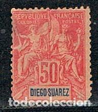 DIEGO SUAREZ (MADAGASCAR) Nº 48, NUEVO SIN GOMA (AÑO 1894) (Sellos - Extranjero - África - Madagascar)