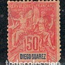 Sellos: DIEGO SUAREZ (MADAGASCAR) Nº 48, NUEVO SIN GOMA (AÑO 1894). Lote 190067421