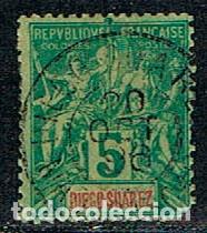 DIEGO SUAREZ (MADAGASCAR) Nº 28 USADO (AÑO 1892) (Sellos - Extranjero - África - Madagascar)