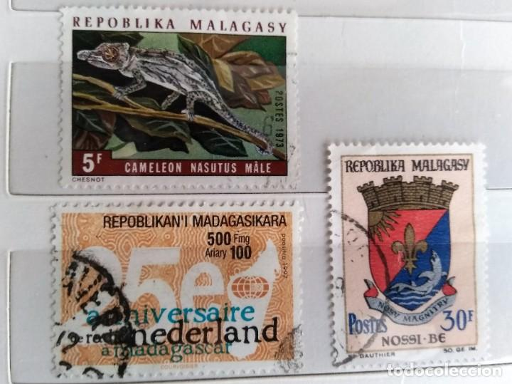 MADAGASCAR, 3 SELLOS USADOS (Sellos - Extranjero - África - Madagascar)