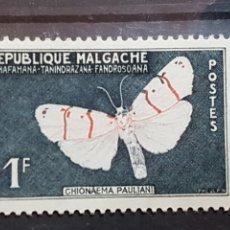 Sellos: MADAGASCAR_SELLO USADO_POLILLA_YT-MG 344 AÑO 1960 LOTE 4398. Lote 193421638