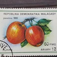 Sellos: MADAGASCAR_SELLO USADO_MANZANAS_YT-MG 1055 AÑO 1992 LOTE 4404. Lote 193422045